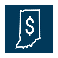 Indiana state outline icon