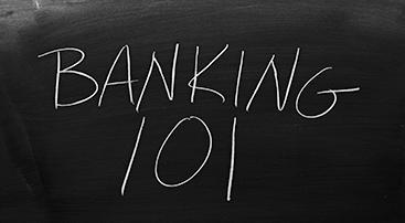 banking 101 on chalkboard